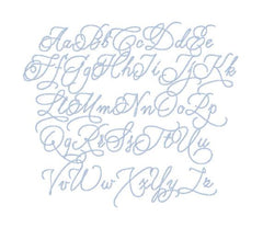 "Margaret Script 1.5"" Embroidery Font"