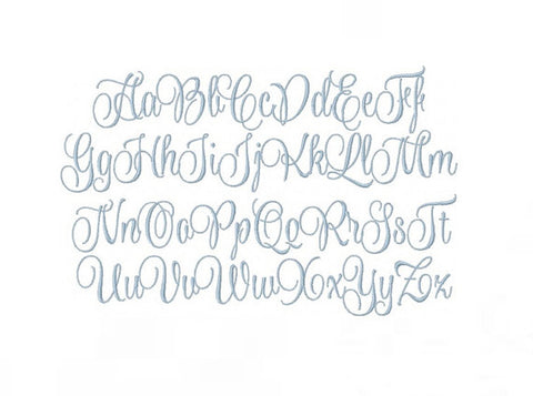 Evie Satin Script Embroidery Font