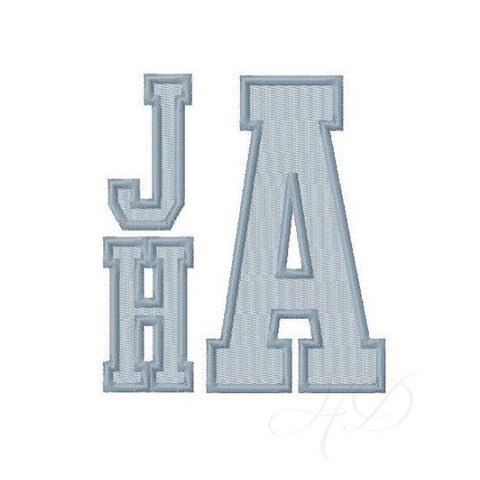 Varsity Fill Satin 4x4 Hoop Embroidery Font