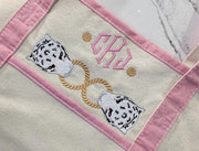Chinoiserie Snow Leopard Link Embroidery Design