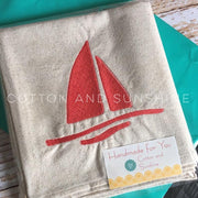 Simple Sail Boat Embroidery Design