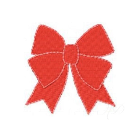 Big Red Holiday Bow Embroidery Design