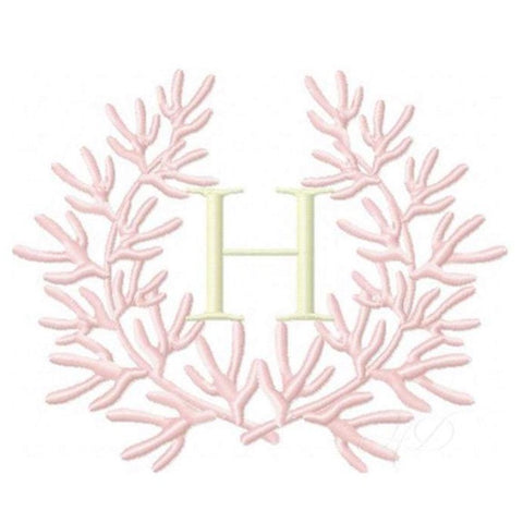 Coral Laurel Wreath Embroidery Design