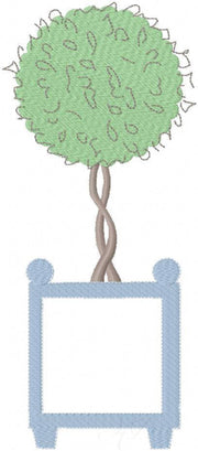 Boxwood Topiary Embroidery Design