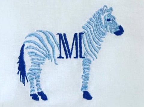 Chinoiserie Chic Open Zebra Embroidery Design
