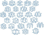 "3"" Oxford Satin Embroidery Font Mastercircle"