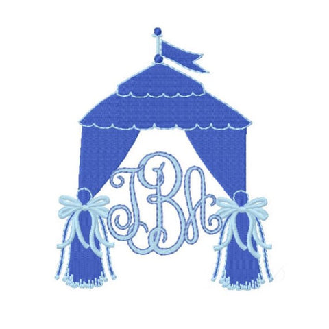 Tent with Bow Tailgate Embroidery Design