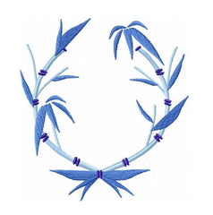 Bamboo Laurel Wreath Embroidery Design