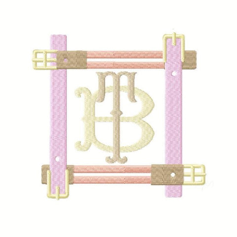 Equestrian Chic Belt Buckle Frame Embroidery Design