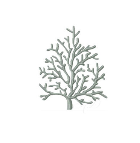 Coral Winter Tree Embroidery Design