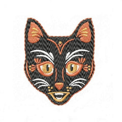 Black Cat Halloween Embroidery Design