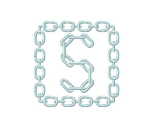 Chain Link Equestrian Embroidery Design
