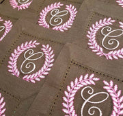 Traditional Laurel Wreath Embroidery Design