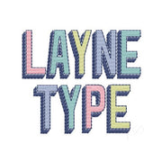 Layne Fill Shadow Type Embroidery Font