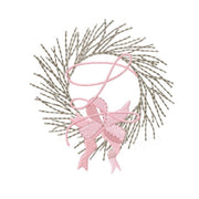 Twig Branch Wreath Embroidery Design