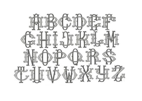 Barrett Fill Satin Embroidery Font