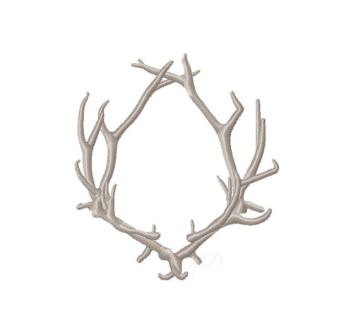 Antler Laurel Wreath Embroidery Design