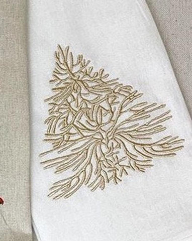 Coral Christmas Tree Embroidery Design