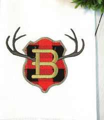 Buffalo Check Plaque Antler Embroidery Design