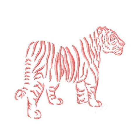 Chinoiserie Chic Full Tiger Embroidery Design