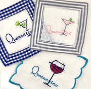 Quarantini Embroidery Design Martini Monogram