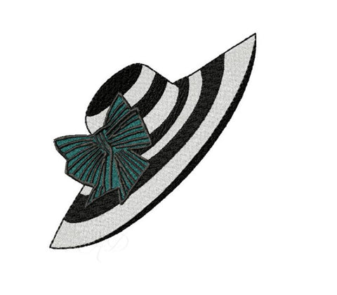Kentucky Derby Hat Horserace Embroidery Design