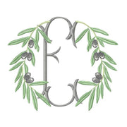 Olive Branch Laurel Wreath Embroidery Design