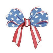 American Flag Bow Embroidery Design