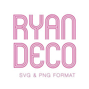 Ryan Deco SVG & PNG Format