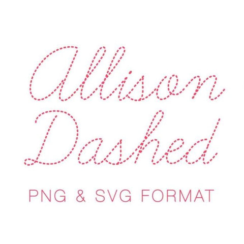 Allison Dashed Monogram PNG SVG Monogram Font