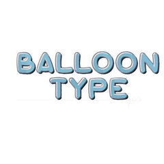 "2"" Mylar Balloon Embroidery Font"