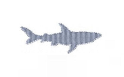 Shark Fill Embroidery Design Small 4x4 Hoop