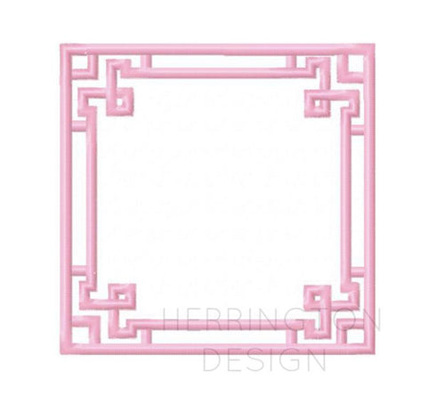 Satin Stitch Greek Key Embroidery Design Frame