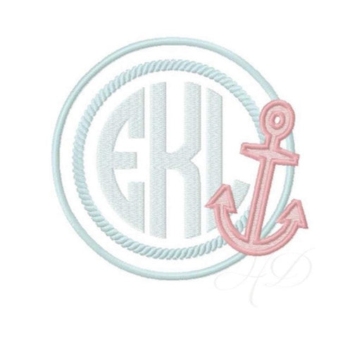 Circle Rope Anchor Embroidery Design
