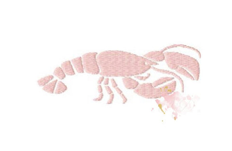 Crawfish Fill Embroidery Design Small 4x4 Hoop