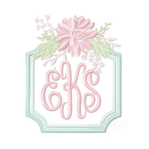 Chinoiserie Chic Floral Frame Embroidery Design