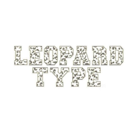 Leopard Embroidery Font Package