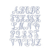 Libby Satin Stitch Small Embroidery Font