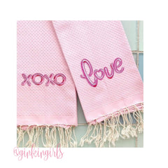 XOXO Mylar Balloon Embroidery Design