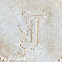 4 sizes Esther Satin Stitch 4x4 Hoop Embroidery Font