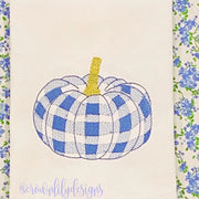 Gingham Pumpkin Embroidery Design