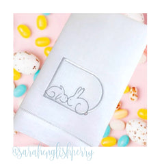 Satin Stitch Easter Bunny Contour Design