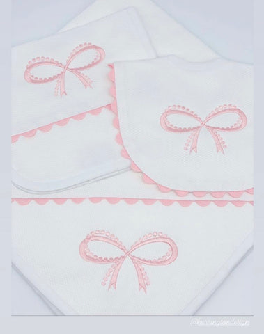 Pearl Bow Embroidery Design
