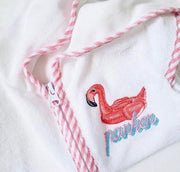 Flamingo Float Embroidery Design