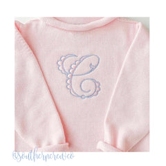 Patisserie Monogram Satin Embroidery Font