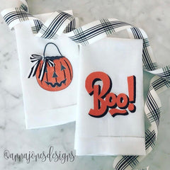 Boo! Embroidery Design