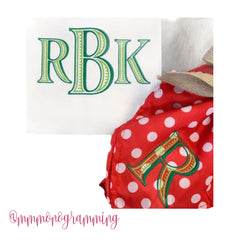 Ryan Ribbed Open Satin Small Embroidery Font