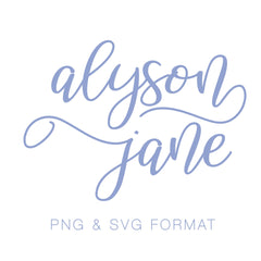 Jane Alyson Monogram PNG SVG Monogram Font