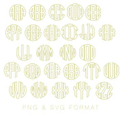 Open Circle  PNG SVG Monogram Font