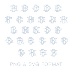 PNG SVG Two Type Fishtail Outline B Font